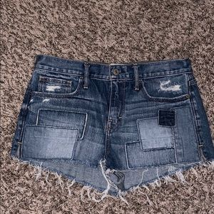 Jean patch shorts